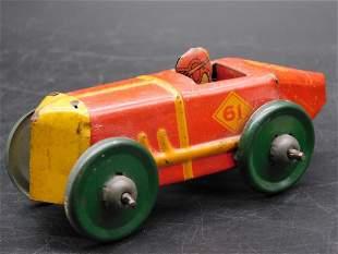 MARX TOYS RACE CAR WITH DRIVER TOY VINTAGE ANTIQUE