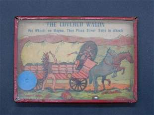 1920S COVERED WAGON DEXTERITY GAME TOY VINTAGE ANTIQUE