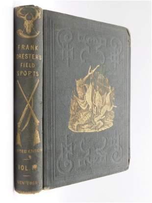 1848 FIELD SPORTS BY HENRY WILLIAM HERBERT BOOK