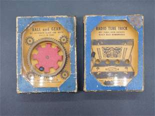 THE A.C. GILBERT CO BOXES SET OF 2 ADVERTISING VINTAGE