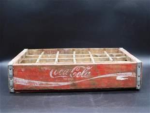 COCA-COLA WOODEN BOTTLE CARRIER ADVERTISING VINTAGE