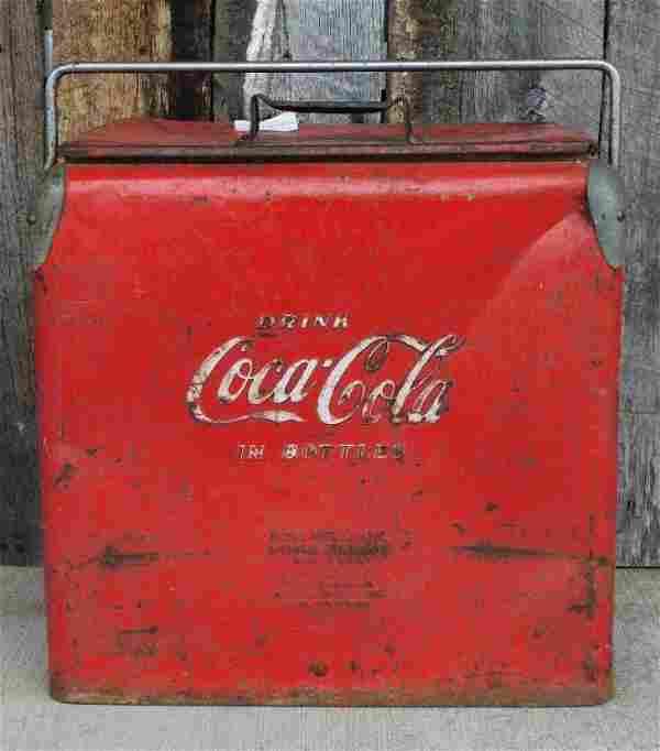 COCA-COLA METAL DRINK COOLER ADVERTISING VINTAGE