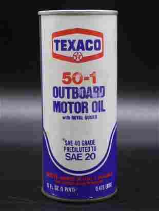 TEXACO OUTBOARD MOTOR OIL ADVERTISING VINTAGE ANTIQUE