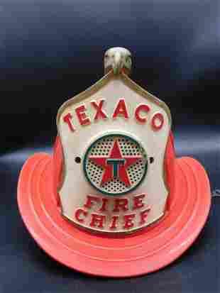 TEXACO FIRE CHIEF FIRE FIGHTER HELMET ADVERTISING