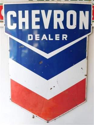CHEVRON DEALER SIGN ADVERTISING VINTAGE ANTIQUE
