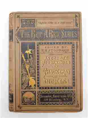 ANECDOTE BIOGRAPHIES OF THACKERAY AND DICKENS BOOK