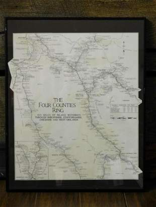 THE FOUR COUNTIES RING FRAMED MAP
