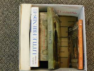 MIXED BOOK LOT ANTIQUES, ADVERTISING, BOOKS,