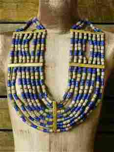 ORNATE CEREMONIAL AFRICAN TRADE BEADS