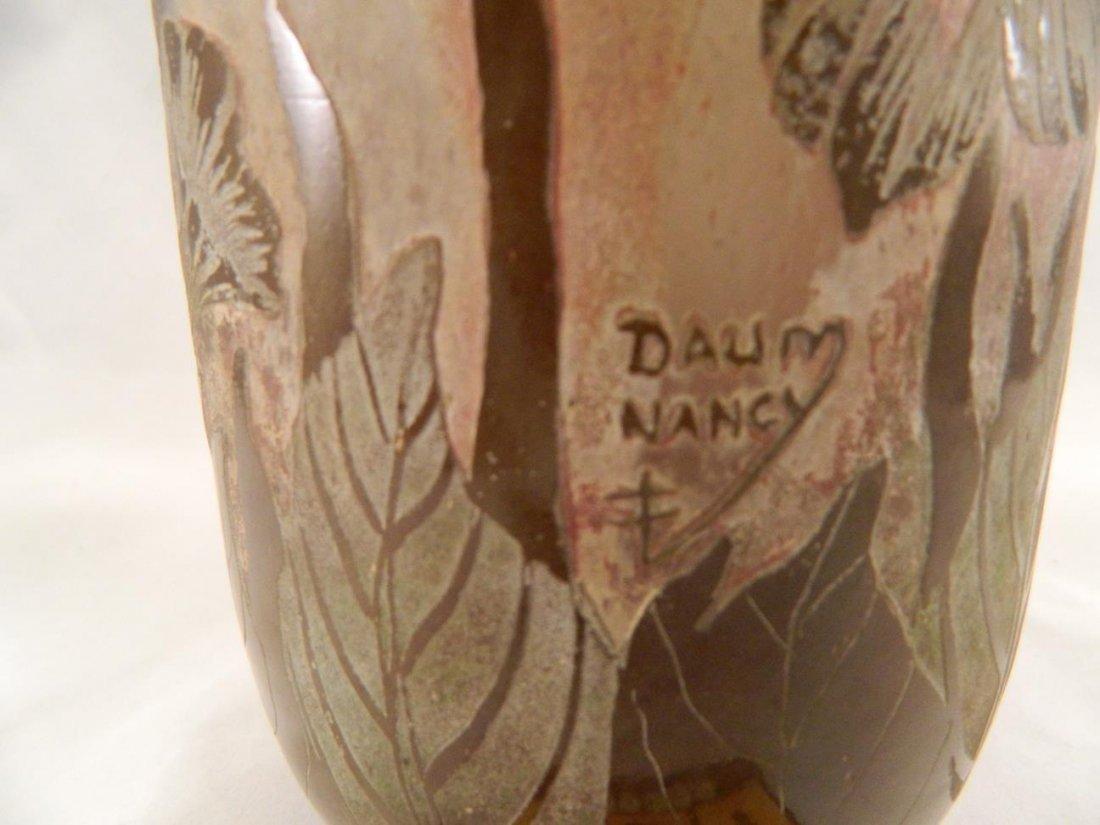 Daum Nancy Vase Cameo Cross of Lorraine Signature Tans - 3