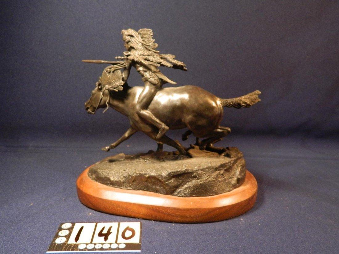 Jack Riley Crow Warrior Indian Native American Bronze - 3