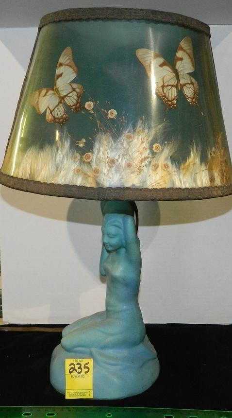 Briggle nude lamp butterfly shade van briggle nude lamp butterfly shade reviewsmspy