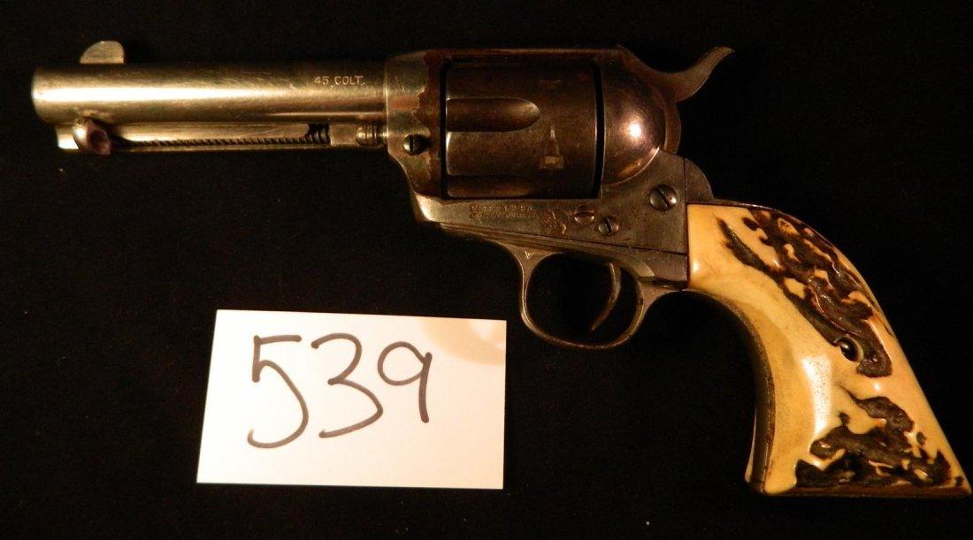 Colt 45 Revolver Pistol 1875 Patented 1871 Bone Handle - 2