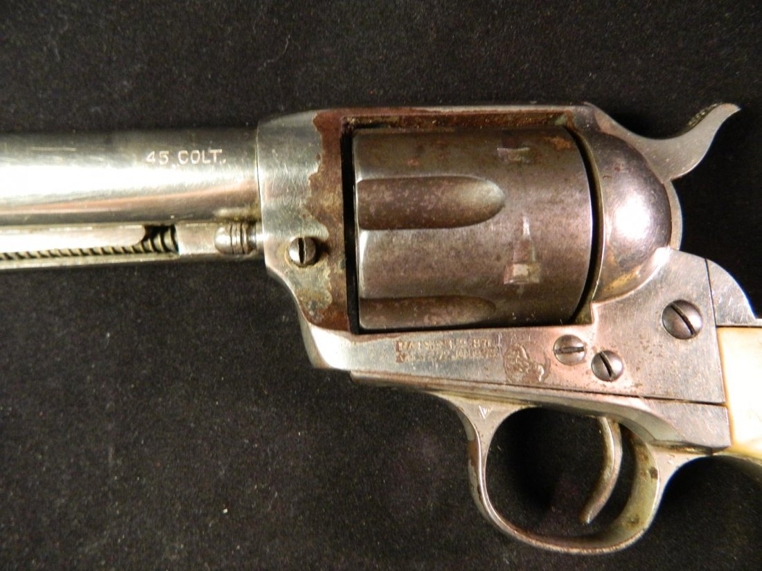 Colt 45 Revolver Pistol 1875 Patented 1871 Bone Handle - 5