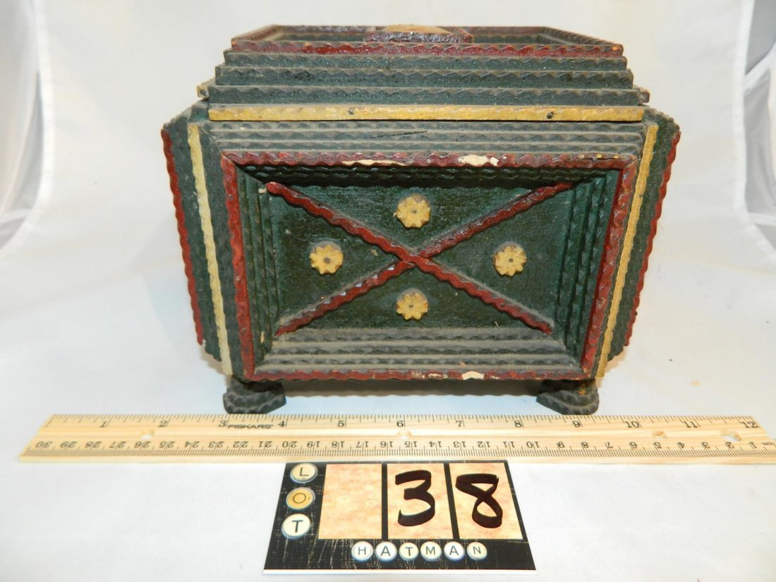 Tramp Art  Box with lid