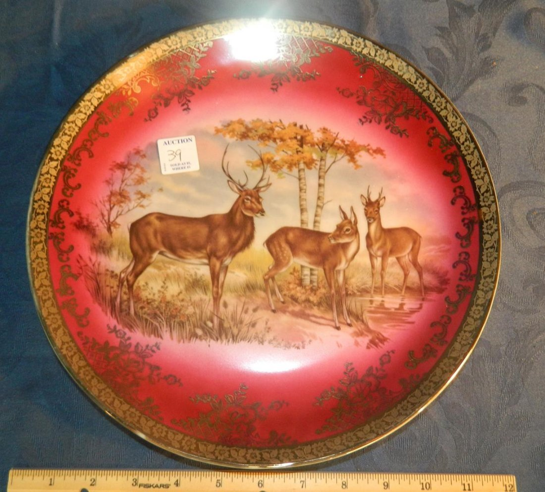 12 Inch Bavarian Stag Plate