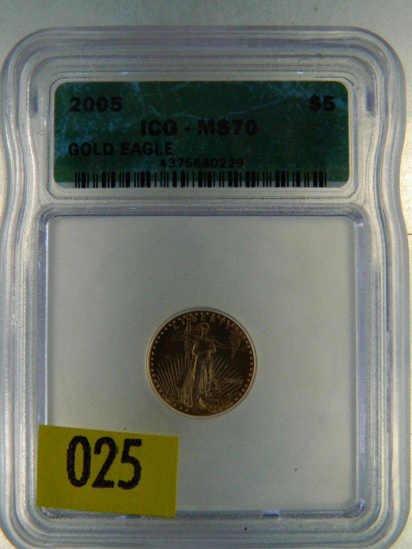 2005 GOLD EAGLE $5 MS70