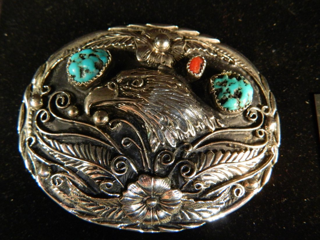 VINTAGE ANTIQUE TURQUOISE AND SILVER OLD PAWN JEWELRY