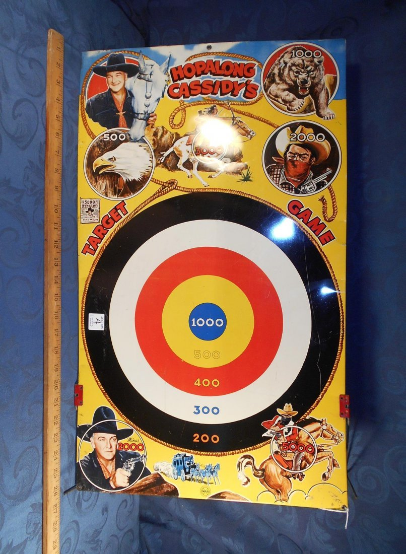 HOPALONG CASSIDY TIN STAND-UP TARGET GAME