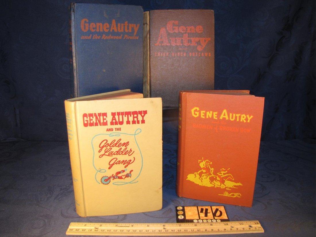 4 GENE AUTRY BOOKS