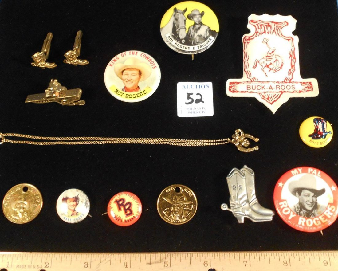 ROY ROGERS CEREAL PREMIUMS TOKENS JEWELRY