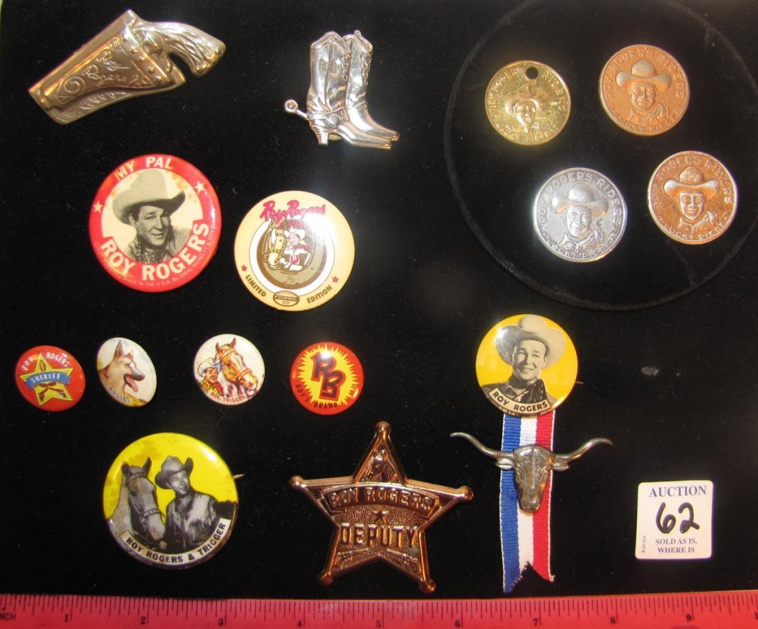 ROY ROGERS TOKENS CEREAL PREMIUMS BADGES