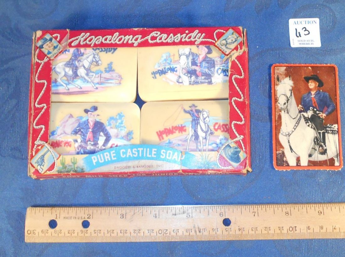 HOPALONG CASSIDY PURE CASTILE SOAP IN PACKAGES