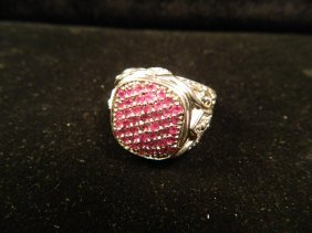 DESIGNER JEWELRY RUBY RING SIZE 11