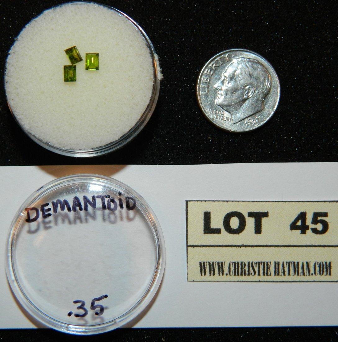 3 DERMATOID .35 GARNET JEWELRY LOOSE STONES PARCEL LOT