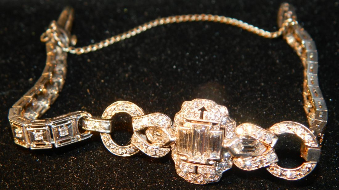 RARE Platinum Diamond Art Deco Women's Diamond Bracelet
