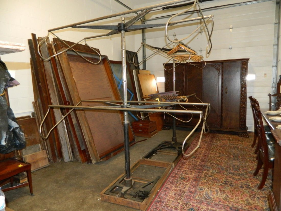 VINTAGE CLOTHING STORE SUIT RACKS ROTATING See Video