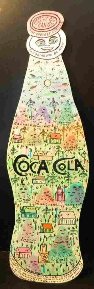 HOWARD FINSTER ORIGINAL COCA COLA BOTTLE FOLK ART