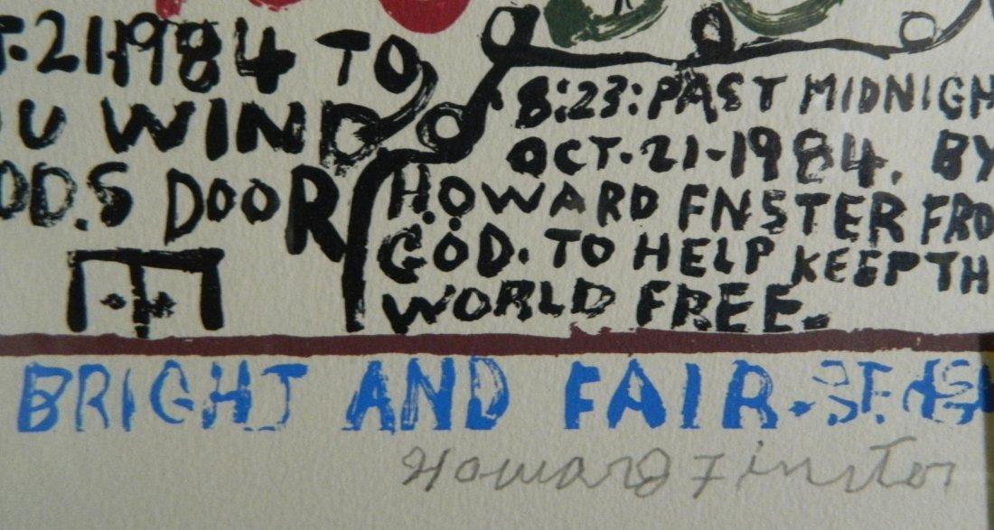 HOWARD FINSTER FLORENCE NIGHTINGALE FOLK ART PAINTING - 2