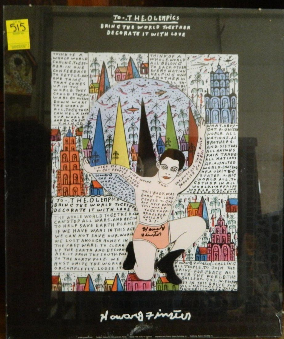 """HOWARD FINSTER """"THE OLEMPICS"""" LITHOGRAPH 19'' x 23''"""