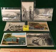 EPHEMERA POST CARDS EXAGGERATIONS FISHING HUNTING ETC