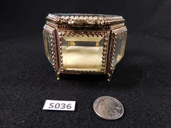 DOUBLE GLASS JAPANESE JEWELRY CASKET