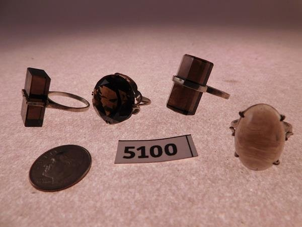 MID CENTURY MODERN RINGS 700 SILVER