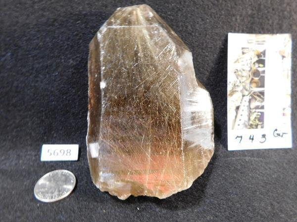 RUTILATED QUARTZ ROCK STONE  743Gr