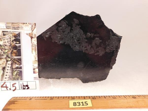 BLACK JADE (POSSIBLY, I.D. UNSURE)  ROCK STONE LAPIDARY