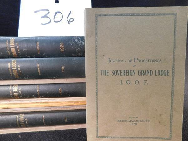 1920'S  JOURNAL OF PROCEEDINGS  EPHEMERA ODD FELLOWS