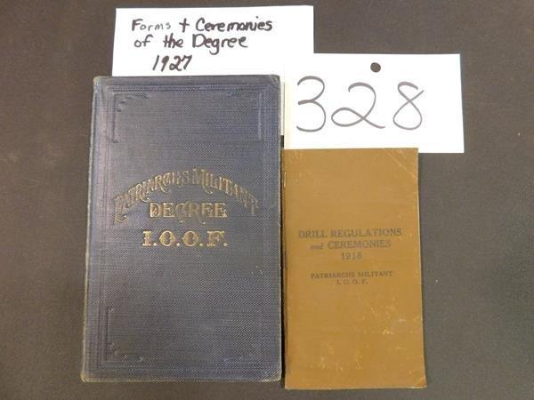 1927 PATRIARCHS MILITANT DEGREE  EPHEMERA ODD FELLOWS