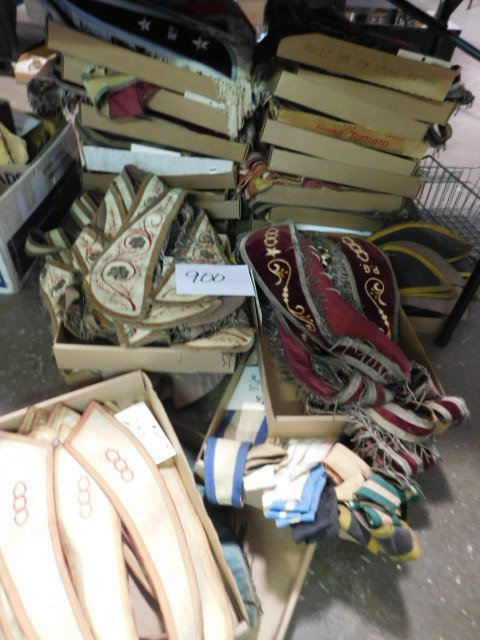 LARGE LOT ODD FELLOWS COLLARS