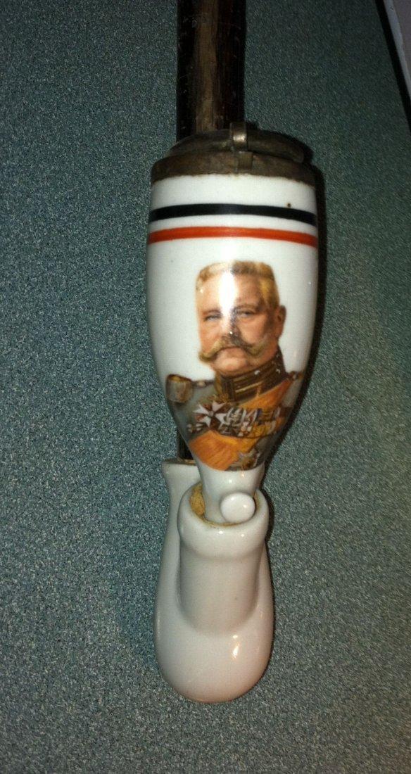 Antique Porcelain General Von Hindenburg Hunters Pipe