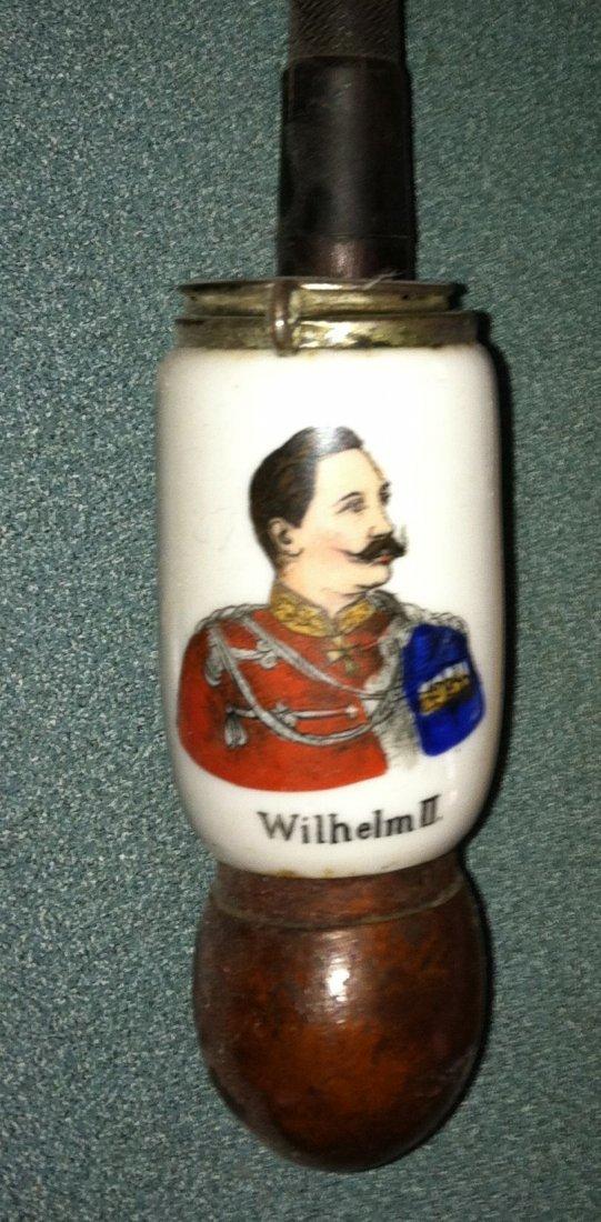 Antique Kaiser WIlhelm II Porcelain Hunters Pipe
