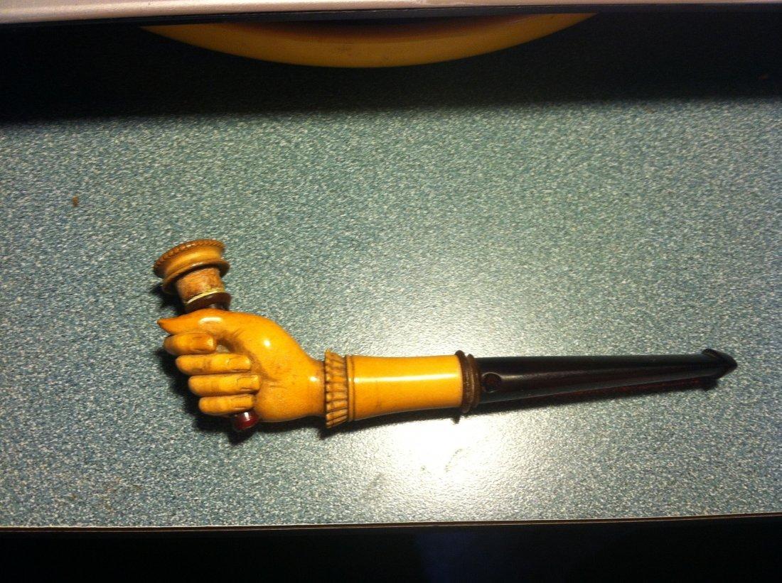 Meerschaum Amber Hand Antique Pipe