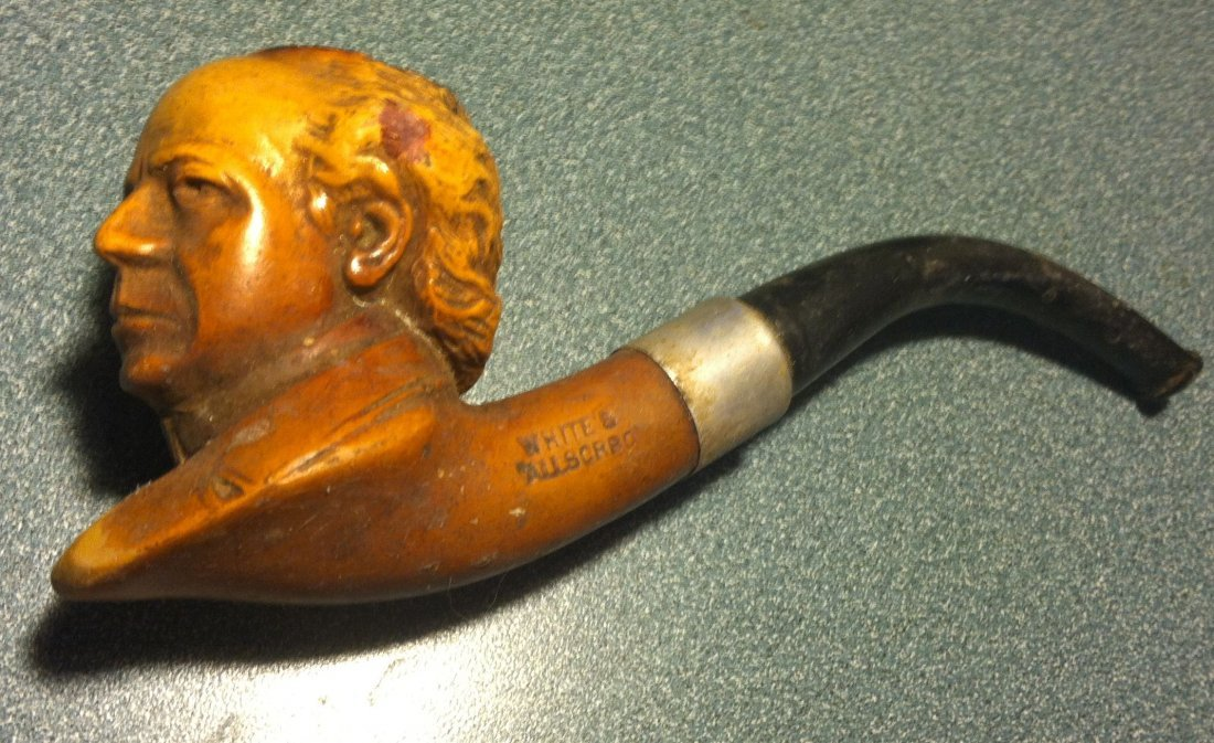 White's Allsorbo Figurial Pipe Antique Clay