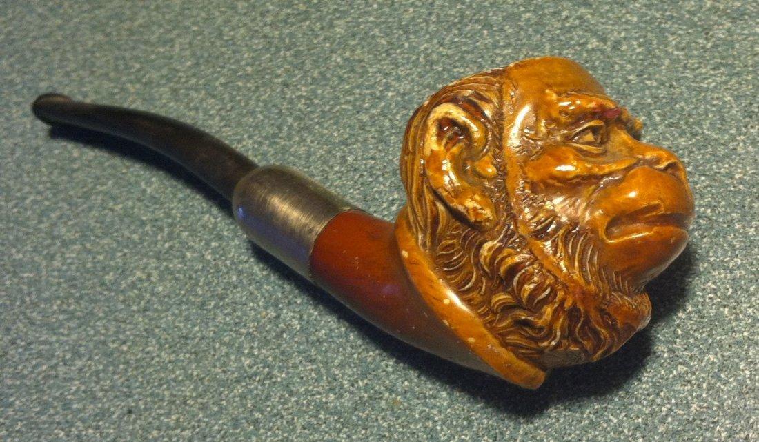 Antique Monkey Clay Pipe circa 1914
