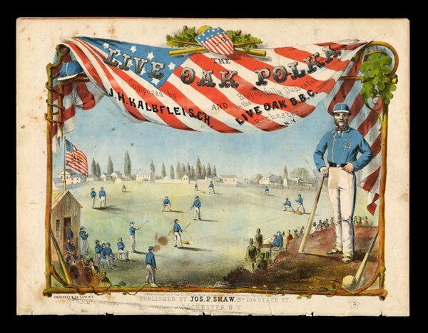 1: 1860 Live Oak Polka Sheet Music