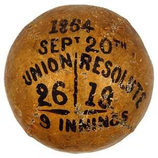 1864 Unions vs. Resolutes Trophy Ball