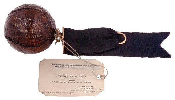 5: 1874 Henry Chadwick Single-Signed Ball